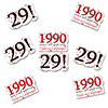 1990 - 29TH BIRTHDAY STICKER SEAL PARTY SUPPLIES