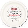 1990 - BIRTHDAY DINNER PLATE PARTY SUPPLIES