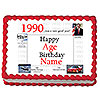 1990 PERSONALIZED ICING ART PARTY SUPPLIES