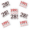 1991 - 28TH BIRTHDAY STICKER SEAL PARTY SUPPLIES
