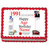 1991 PERSONALIZED ICING ART PARTY SUPPLIES