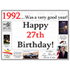 1992 - 27TH BIRTHDAY PLACEMAT PARTY SUPPLIES