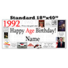 1992 PERSONALIZED BANNER PARTY SUPPLIES