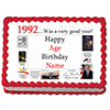 1992 PERSONALIZED ICING ART PARTY SUPPLIES