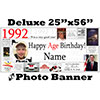 1992 CUSTOM PHOTO DELUXE BANNER PARTY SUPPLIES