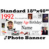 1992 CUSTOM PHOTO BANNER PARTY SUPPLIES