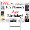 1992 PERSONALIZED YARD SIGN PARTY SUPPLIES