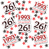 1993 - 26TH BIRTHDAY DECO FETTI PARTY SUPPLIES