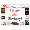 1993 - 26TH BIRTHDAY PLACEMAT PARTY SUPPLIES