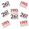 1993 - 26TH BIRTHDAY STICKER SEAL PARTY SUPPLIES