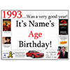 1993 CUSTOMIZED DOOR POSTER PARTY SUPPLIES