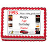 1993 PERSONALIZED EDIBLE CAKE IMAGE PARTY SUPPLIES