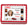 1993 PERSONALIZED EDIBLE PHOTO CAKE IMGE PARTY SUPPLIES