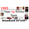 1993 PERSONALIZED BANNER PARTY SUPPLIES