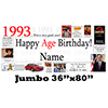 1993 JUMBO PERSONALIZED BANNER PARTY SUPPLIES