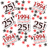 1994 - 25TH BIRTHDAY DECO FETTI PARTY SUPPLIES