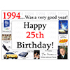 1994 - 25TH BIRTHDAY PLACEMAT PARTY SUPPLIES