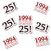 1994 - 25TH BIRTHDAY STICKER SEAL 24/PKG PARTY SUPPLIES
