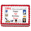 1994 PERSONALIZED EDIBLE ICING IMAGE PARTY SUPPLIES