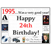 1995 - 24TH BIRTHDAY PLACEMAT PARTY SUPPLIES