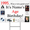 1995 PERSONALIZED YARD SIGN PARTY SUPPLIES