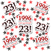 1996 - 23RD BIRTHDAY DECO FETTI PARTY SUPPLIES