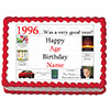 1996 PERSONALIZED EDIBLE ICING IMAGE PARTY SUPPLIES