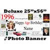1996 CUSTOM PHOTO DELUXE BANNER PARTY SUPPLIES