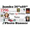 1996 CUSTOM PHOTO JUMBO BANNER PARTY SUPPLIES