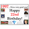 1997 - 22ND BIRTHDAY PLACEMAT PARTY SUPPLIES