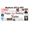 1997 DELUXE PERSONALIZED BANNER PARTY SUPPLIES