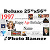 1997 CUSTOM PHOTO DELUXE BANNER PARTY SUPPLIES