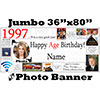 1997 CUSTOM PHOTO JUMBO BANNER PARTY SUPPLIES