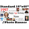 1997 CUSTOM PHOTO BANNER PARTY SUPPLIES