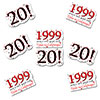 1999 - 20TH BIRTHDAY STICKER SEAL PARTY SUPPLIES