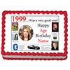 1999 PERSONALIZED EDIBLE PHOTO CAKE IMGE PARTY SUPPLIES