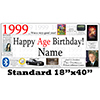 1999 PERSONALIZED BANNER PARTY SUPPLIES