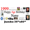 1999 JUMBO PERSONALIZED BANNER PARTY SUPPLIES