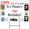 1999 PERSONALIZED YARD SIGN PARTY SUPPLIES