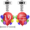 19TH BALLOON BLAST JUMBO CUSTOM DANGLER PARTY SUPPLIES
