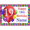 19TH BALLOON BLAST CUSTOMIZED PLACEMAT PARTY SUPPLIES