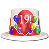 19TH BIRTHDAY BALLOON BLAST TOP HAT PARTY SUPPLIES