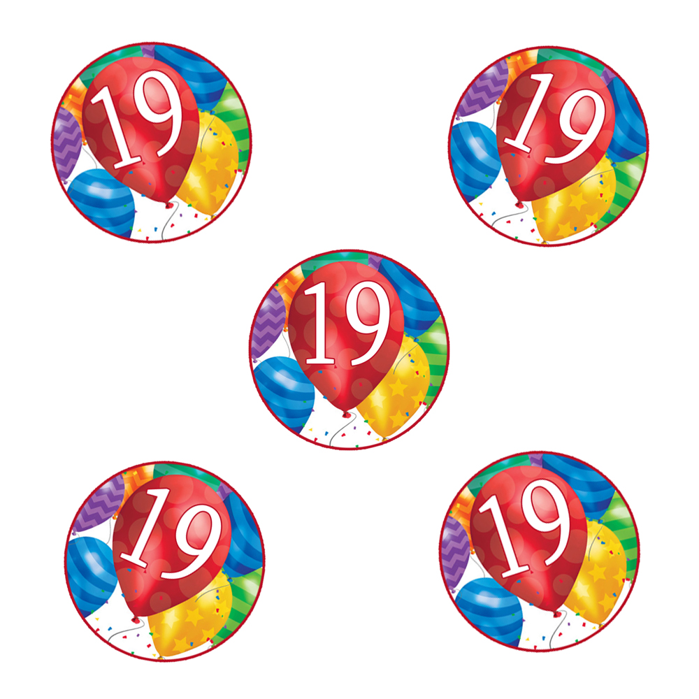 Click For Larger Picture Of 19TH BIRTHDAY BALLOON BLAST STICKER PARTY SUPPLIES