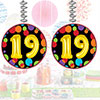 19TH BIRTHDAY BALLOON DANGLER PARTY SUPPLIES