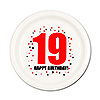 19TH BIRTHDAY DESSERT PLATE 8-PKG PARTY SUPPLIES
