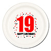 19TH BIRTHDAY DINNER PLATE 8-PKG PARTY SUPPLIES