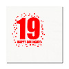 19TH BIRTHDAY LUNCHEON NAPKIN 16-PKG PARTY SUPPLIES