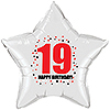 19TH BIRTHDAY STAR BALLOON PARTY SUPPLIES