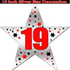 19TH SILVER STAR DECORATION PARTY SUPPLIES