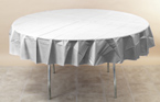 WHITE 82 IN. ROUND PAPER TABLECOVER PARTY SUPPLIES